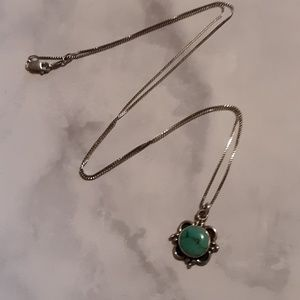 925 silver and  turquoise necklace